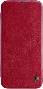 Кожаный чехол (книжка) Nillkin Qin Series для Samsung J415 Galaxy J4+ (2018) Красный