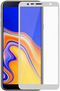 Защитное цветное стекло Mocolo (full glue) для Samsung J610 Galaxy J6+ (2018) Белое