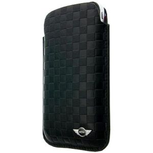 Кожаный чехол CG Mobile Mini Leather Sleeve Case Chequered Black для iPhone 4/4S (MNPUIPSQBL)