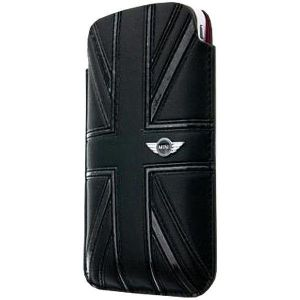 Кожаный чехол CG Mobile Mini Leather Sleeve Case Union Jack Black для iPhone 4/4S (MNPUIPUJBL)