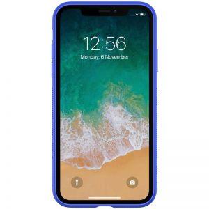 Подарочный набор (чехол + беспроводное ЗУ + кабель 3в1) для iPhone XS Max (6.5'') Nillkin Fancy Blue