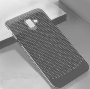 TPU чехол Grill для Samsung J610 Galaxy J6+ (2018) Черный (прозрачный)