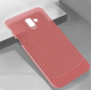 TPU чехол Grill для Samsung J415 Galaxy J4+ (2018) Красный (прозрачный)
