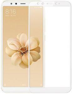 Защитное стекло для Xiaomi Mi 6X / Mi A2 Mocolo (full glue) на весь экран Белое