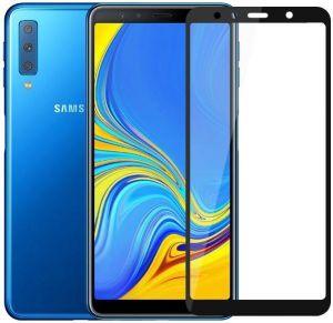 Защитное стекло для Samsung A750 Galaxy A7 (2018) Mocolo (full glue) на весь экран Черное