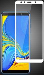 Защитное цветное стекло Mocolo (full glue) для Samsung A750 Galaxy A7 (2018) Белое