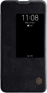 Кожаный чехол (книжка) Nillkin Qin Series для Huawei Mate 20 Черный