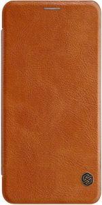 Кожаный чехол (книжка) Nillkin Qin Series для Samsung A750 Galaxy A7 (2018) Коричневый