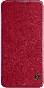 Кожаный чехол (книжка) Nillkin Qin Series для Samsung A750 Galaxy A7 (2018) Красный