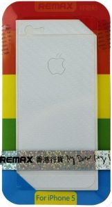 Набор защитных пленок (дисплей+задняя сторона) для iPhone SE и iPhone 5/5S/5C Remax (front + back) Pure Sticker White