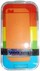 Набор защитных пленок (дисплей+задняя сторона) для iPhone SE и iPhone 5/5S/5C Remax (front + back) Pure Sticker Orange