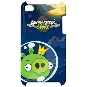 Чехол Angry Birds Protective Case Space King Pig Green для iPod touch 4G (TCAS406G)