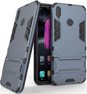 Ударопрочный чехол-подставка Transformer для Huawei Honor 8X Max с мощной защитой корпуса Серый / Metal slate