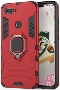 Ударопрочный чехол Transformer Ring под магнитный держатель для Xiaomi Mi 8 Lite / Mi 8 Youth(Mi 8X) Красный / Dante Red