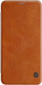 Кожаный чехол (книжка) Nillkin Qin Series для Samsung A920 Galaxy A9 (2018) Коричневый