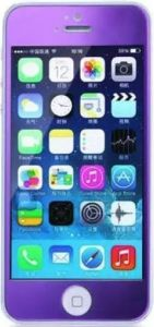 Защитное cтекло для iPhone SE и iPhone 5/5S/5C Remax Colorful Purple, 0.2mm, 9H