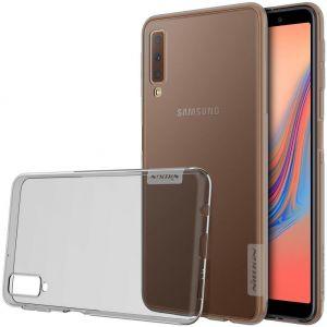 TPU чехол Nillkin Nature Series для Samsung A750 Galaxy A7 (2018) Серый (прозрачный)
