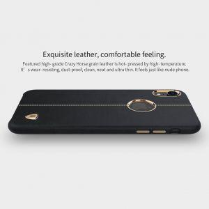 """Кожаная накладка для iPhone XR (6.1"""") Nillkin Englon Series Black"""