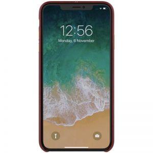 """Кожаная накладка для iPhone XR (6.1"""") Nillkin Englon Series Brown"""