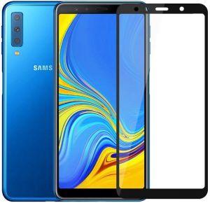 Гибкое защитное стекло Caisles 5D (на весь экран) для Samsung A750 Galaxy A7 (2018) Черное