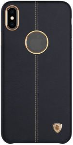 "Кожаная накладка для iPhone XS (5.8"") Nillkin Englon Series Black"