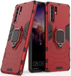 Ударопрочный чехол для Huawei P30 Pro Transformer Ring под магнитный держатель Красный
