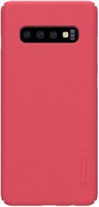 Чехол для Samsung Galaxy S10 Nillkin Super Frosted Shield Red