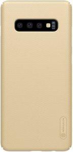 Чехол для Samsung Galaxy S10+ Nillkin Super Frosted Shield Gold