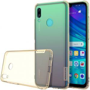Чехол для Huawei P Smart (2019) Nillkin Nature Series Золотой (прозрачный)