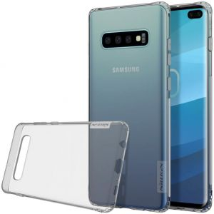 Чехол для Samsung Galaxy S10+ (G975) Nillkin Nature Series Серый (прозрачный)