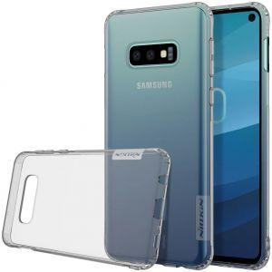 Чехол для Samsung Galaxy S10e (G970) Nillkin Nature Series Серый (прозрачный)