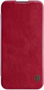 Кожаный чехол для Huawei P Smart (2019) Nillkin Qin Series Красный