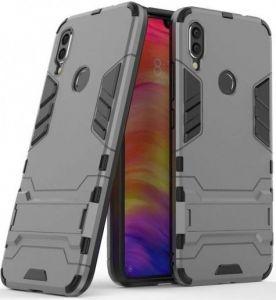 Ударопрочный чехол-подставка для Xiaomi Redmi Note 7 / Note 7 Pro / Note 7s Transformer с мощной защитой корпуса Gun Metal