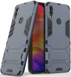 Ударопрочный чехол-подставка для Xiaomi Redmi Note 7 / Note 7 Pro / Note 7s Transformer с мощной защитой корпуса Metal Slate