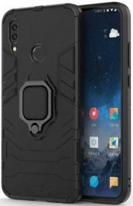 Ударопрочный чехол для Xiaomi Redmi Note 7 / Note 7 Pro / Note 7s Transformer Ring под магнитный держатель Soul Black