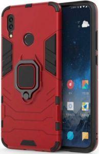 Ударопрочный чехол для Xiaomi Redmi Note 7 / Note 7 Pro / Note 7s Transformer Ring под магнитный держатель Dante Red