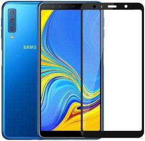 Защитное 3D-стекло для Samsung A750 Galaxy A7 (2018) ZiFriend 5D Full Face (full glue) Черное