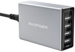 Сетевое зарядное устройство RavPower USB Wall Charger Station Porsche Design 4xUSB 40W 8A Silver (RP-PC030)