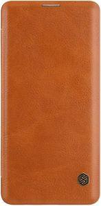 Кожаный чехол для Samsung Galaxy S10 (G973) Nillkin Qin Series Brown