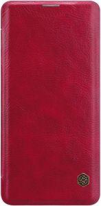 Кожаный чехол для Samsung Galaxy S10 (G973) Nillkin Qin Series Red