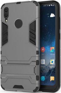 Ударопрочный чехол-подставка для Huawei Y7 (2019)/Huawei Y7 Prime 2019 Transformer с защитой корпуса Gun Metal