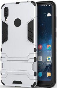 Ударопрочный чехол-подставка для Huawei Y7 (2019)/Huawei Y7 Prime 2019 Transformer с защитой корпуса Satin Silver