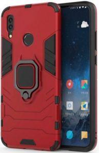 Ударопрочный чехол для Huawei Y7 2019 /Huawei Y7 Prime 2019 Transformer Ring под магнитный держатель Dante Red