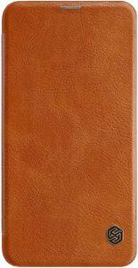 Кожаный чехол для Samsung Galaxy S10e (G970) Nillkin Qin Series Brown