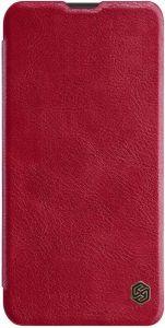 Кожаный чехол для Samsung Galaxy M10 Nillkin Qin Series Красный