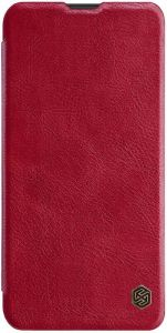 Кожаный чехол для Samsung Galaxy M20 Nillkin Qin Series Красный