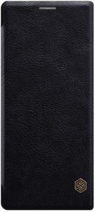 Кожаный чехол для Sony Xperia 10 Plus (I4213) Nillkin Qin Series Черный