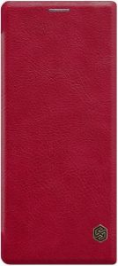 Кожаный чехол для Sony Xperia 10 Plus (I4213) Nillkin Qin Series Красный