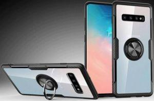Чехол для Samsung Galaxy S10 Plus (G975) Deen CrystalRing с креплением под магнитный держатель Black