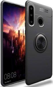 Чехол для Huawei P30 Lite Deen ColorRing с креплением под магнитный держатель Black